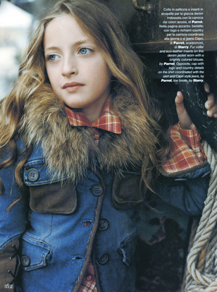 Vogue Bambini Renee Majour childrens hair and makeup