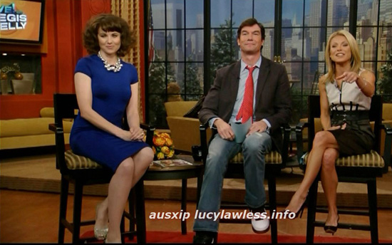 Lucy Lawless star of Spartakus on the Regis and Kelly show | Renee Majour Makeup