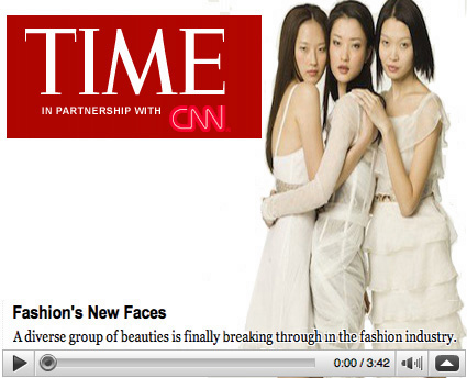 Time magazine Assian Supermodels during fashion week Hair Renee Majour